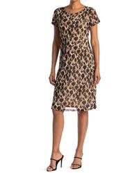 West Kei Knit Mesh Leopard Print Dress - Multicolor