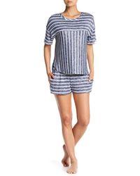 Kensie - Stripe Knit Pajama Shorts - Lyst