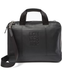 Longchamp - Cavalry Leather Briefcase - Lyst