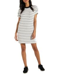 63c1a623483 Lyst - n PHILANTHROPY Jazz Knotted T-shirt Dress in Natural