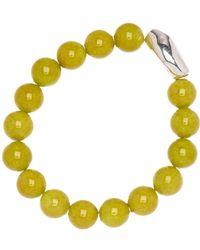 Simon Sebbag - Sterling Silver Lime Mountain Jasper Stretch Bracelet - Lyst