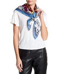Vince Camuto | Love Letter Square Silk Scarf | Lyst