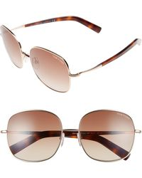Tom Ford Round 57mm Sunglasses - Brown