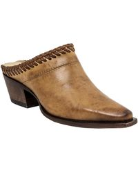 Lucchese - Braid Accented Cowhide Mule - Lyst
