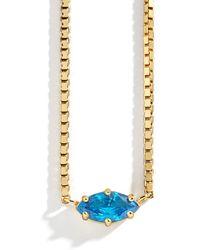 BaubleBar - Nascita Gold Vermeil Birthstone Pendant Necklace - Lyst