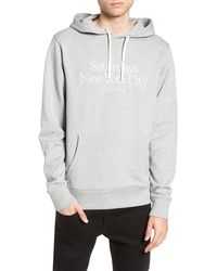Saturdays NYC Ditch Miller Standard Embroidered Hoodie - Gray