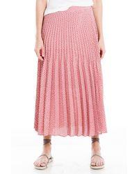 Max Studio Pleated Midi Skirt - Pink