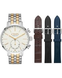 Chaps - Dunham Interchangeable Two-tone Bracelet Hybrid Smart Strap Watch, 44mm - Lyst