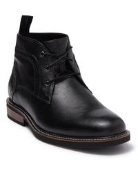 Nunn Bush Ozark Leather Plain Toe Chukka Boot - Black