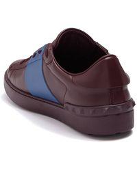 Valentino Garavani Colorblock Leather Studded Sneaker - Multicolor