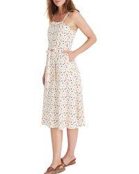 Madewell Terrazzo Square Neck Midi Dress - Multicolor