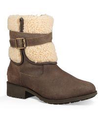 UGG Blayre Iii Pure Wool Cuff Bootie - Brown