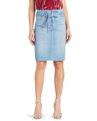 Sam Edelman The Riley Belted Denim Skirt - Blue