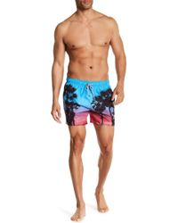 Ted Baker - Sonset Palm Tree Print Shorts - Lyst