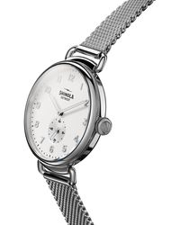Shinola Women's Canfield Sub Second Silver Bracelet Watch - Metallic