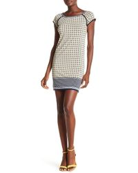 Max Studio - Printed Cap Sleeve Dress - Lyst