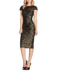 Dress the Population - 'marcella' Open Back Sequin Body-con Dress - Lyst