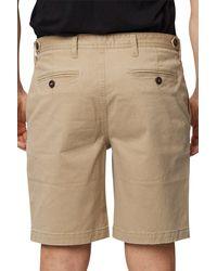 Rainforest Geo Print Stretch Chino Shorts - Natural