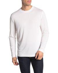 Quinn Long Sleeve Crew Neck T-shirt - White