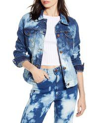 Wrangler Bleached Denim Jacket - Blue