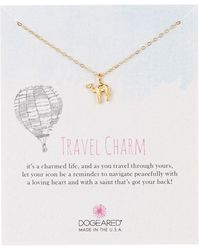 Dogeared - 14k Gold Plated Sterling Silver Travel Charm Camel Pendant Necklace - Lyst