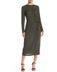 Lush - Hacci Striped Brushed Dress - Lyst