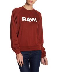 G-Star RAW | Xula Art Raglan Sweatshirt | Lyst