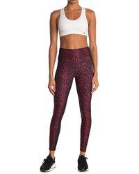 WEAR IT TO HEART Nala Leopard Printed Leggings - Red