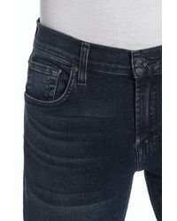 7 For All Mankind Standard Luxe Active Straight Jeans - Blue