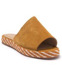 Kaanas Maui Leather Braided Flatform Sandal - Brown