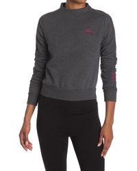 adidas Comfort Fleece Back Zip Sweatshirt - Gray