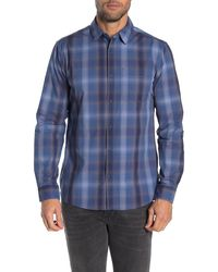 Hurley Mens Kyoto Heavy Weight Plaid Flannel Button Up Shirt