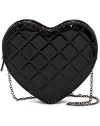 Jessica Mcclintock | Quilted Patent Heart Clutch | Lyst
