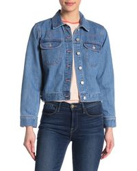 Madewell The Crop Jean Jacket - Blue