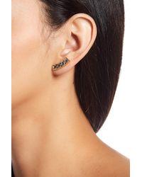 Freida Rothman - Double Helix Balck Cz Pave Lattice Ear Crawler Earrings - Lyst