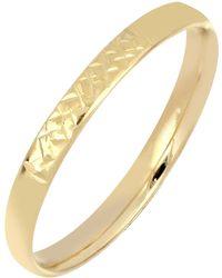 Bony Levy 14k Gold Textured Ring - Metallic