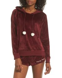 210a3a7900 Cozy Zoe - Velour Hooded Pajamas - Lyst
