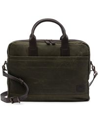 Frye - Carter Leather Trimmed Briefcase - Lyst