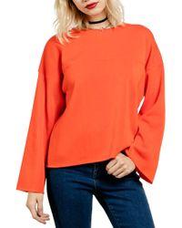 Volcom - Lost Cause Bell Sleeve Sweatshirt - Lyst