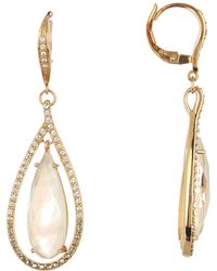 Judith Jack - Gold Plated Sterling Silver Mother Of Pearl Orbital Drop Earrings - Lyst