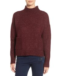 Love By Design - Mock Neck Patch Pocket Pullover - Lyst