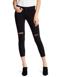 Miss Me - Slit Solid Skinny Ankle Jeans - Lyst