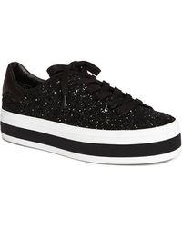 Alice + Olivia Ezra Platform Sneaker - Black