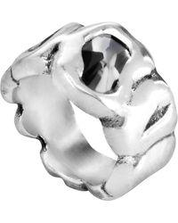 Uno De 50 Sinner Swarovski Crystal Accented Ring - Gray