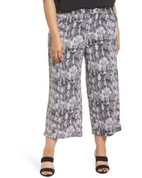 Sejour - Crop Wide Leg Pants (plus Size) - Lyst