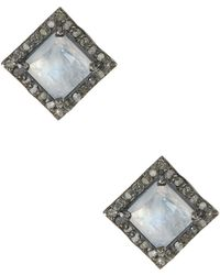 Adornia - Moore Moonstone & Champagne Diamond Earrings - Lyst