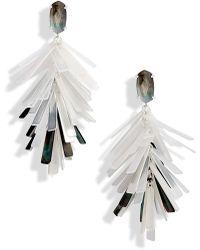 Kendra Scott Jasper Fringe Drop Earrings - Metallic