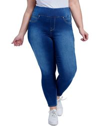 Seven7 Ultra High Waisted Tummy Toner Skinny Jeans - Blue