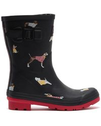 Joules Molly Welly Mid Printed Rain Boot - Black