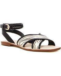 Nicole Miller - Raf Genuine Pony Fur Ankle Strap Sandal - Lyst